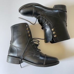Black Leather Riding Boots Granny Comfort Riders 8